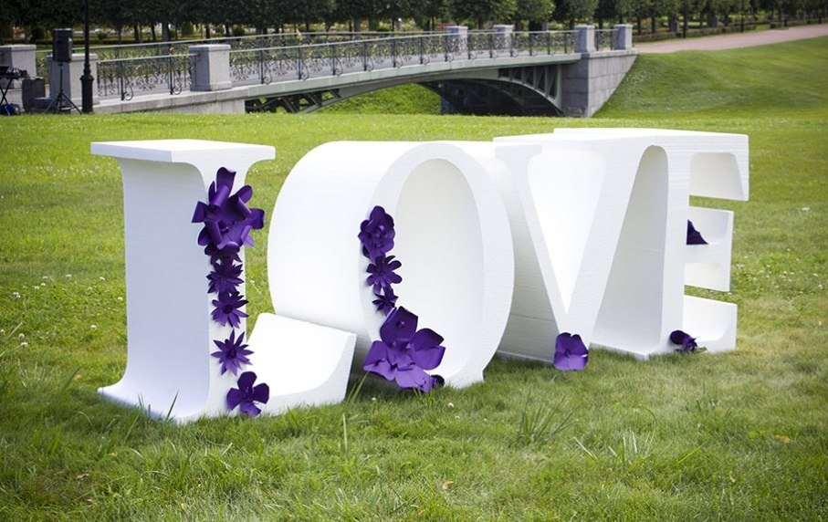 Как сделать буквы из пенопласта на свадьбу своими руками