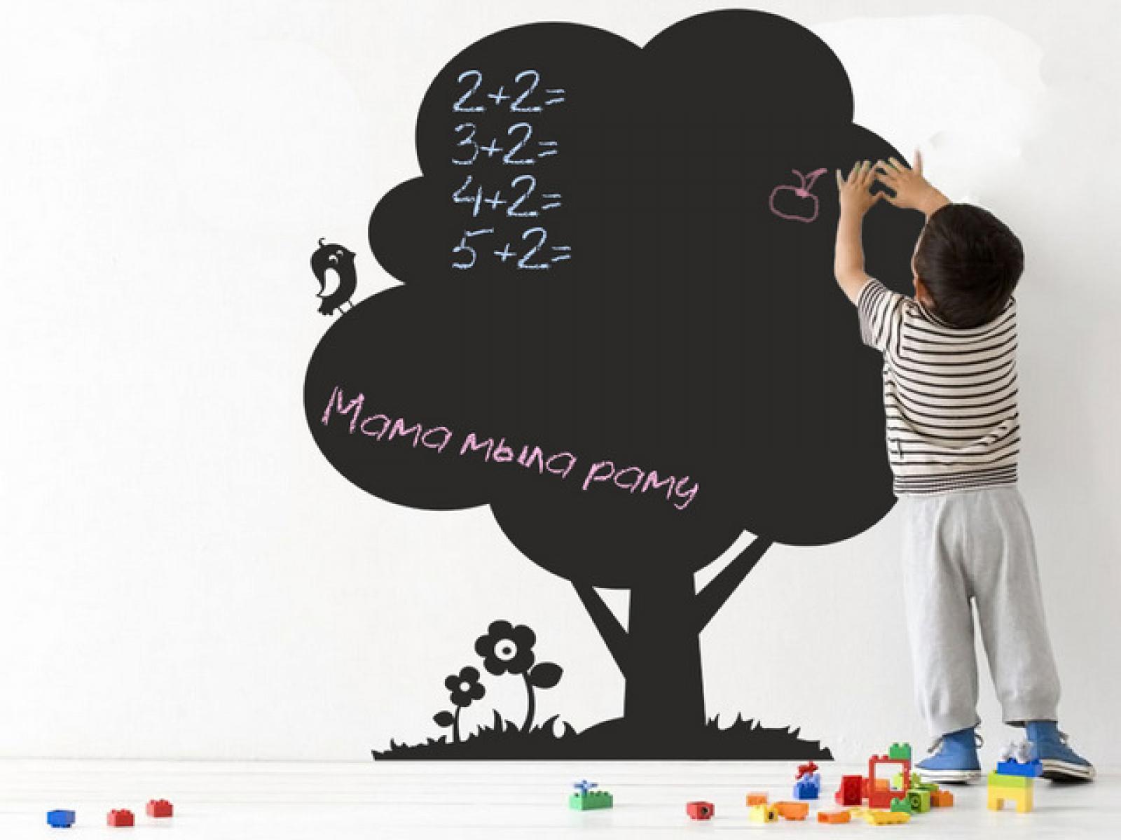 Как сделать меловую стену своими руками
