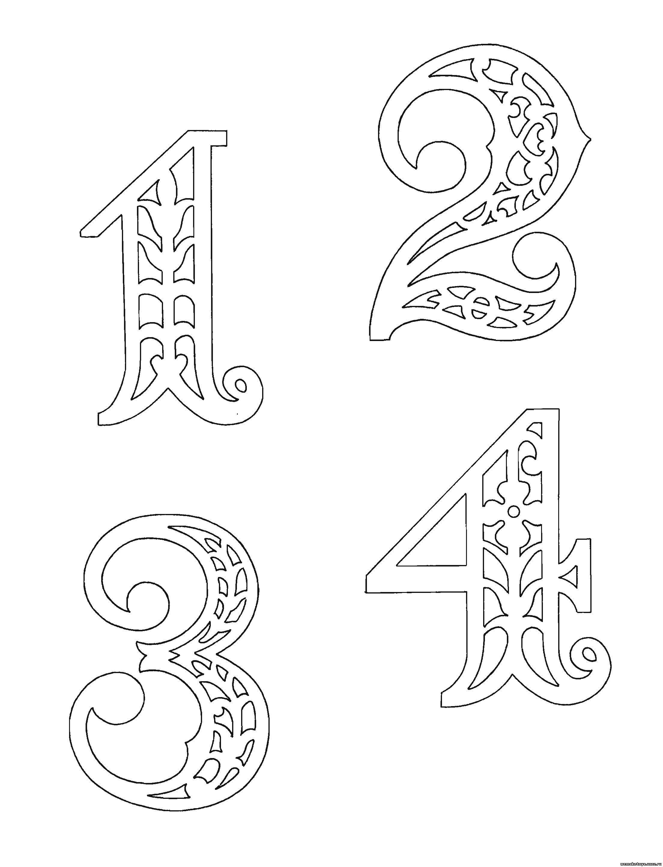 Трафареты своими руками цифры буквы