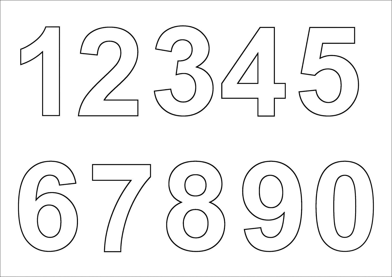 Шаблоны цифр для печати скачать